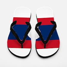 Laos Flag Flip Flops