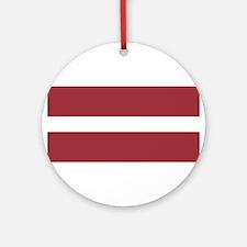 Latvia Flag Round Ornament