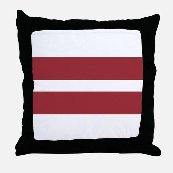Latvia Flag Throw Pillow