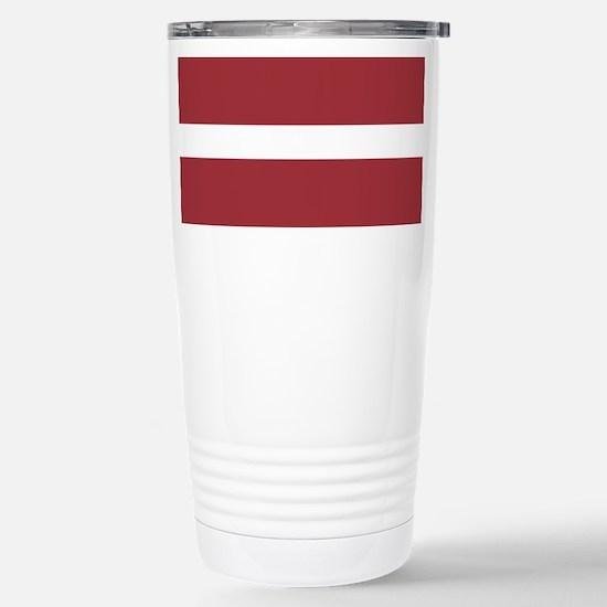 Latvia Flag Travel Mug