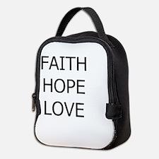 3-faith,hope.png Neoprene Lunch Bag