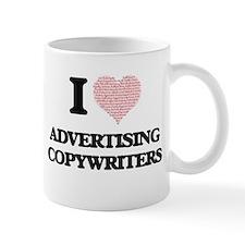 I love Advertising Copywriters (Heart made fr Mugs