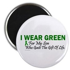 "Green For Son Organ Donor Donation 2.25"" Magnet (1"