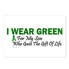 Green For Son Organ Donor Donation Postcards (Pack