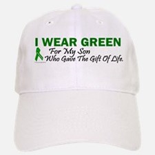 Green For Son Organ Donor Donation Baseball Baseball Cap