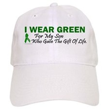Green For Son Organ Donor Donation Baseball Cap