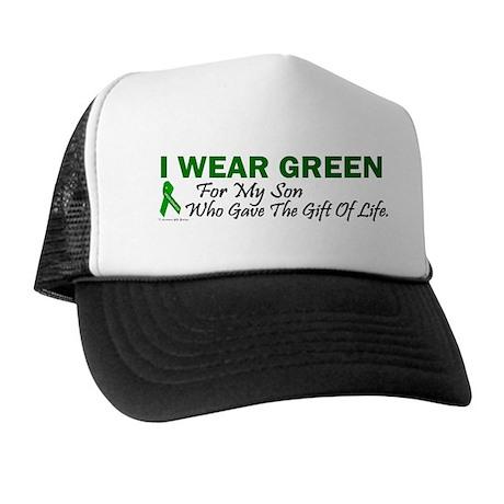 Green For Son Organ Donor Donation Trucker Hat