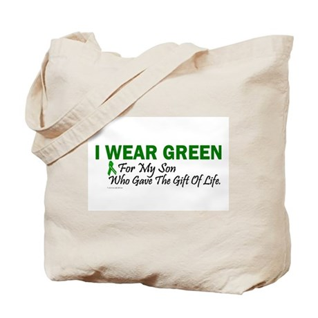 Green For Son Organ Donor Donation Tote Bag
