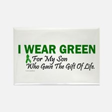 Green For Son Organ Donor Donation Rectangle Magne