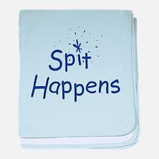Spit Happens baby blanket