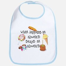 What Happens at Abuela's... Funny Baby Bib