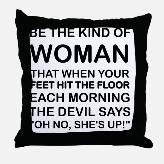 Cute Woman Throw Pillow