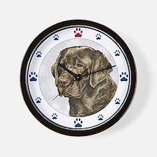 Labrador Retriever Dog Paws Wall Clock