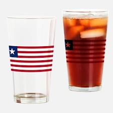 Liberia Flag Drinking Glass