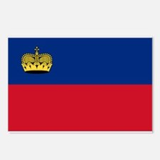 Liechtenstein Flag Postcards (Package of 8)