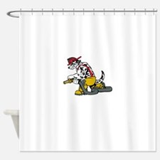 Fire Dog Shower Curtain