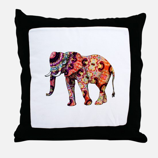 Funny Red elephant Throw Pillow