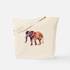 Orange Elephant Tote Bag