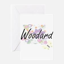 Woodard surname artistic design wit Greeting Cards