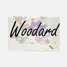 Woodard surname artistic design with Flowe Magnets