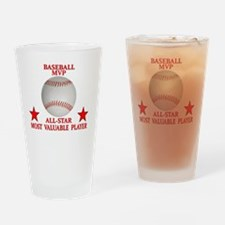 Cute Baseball team braves Drinking Glass