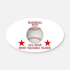 BASEBALL MVP ALLSTAR Oval Car Magnet
