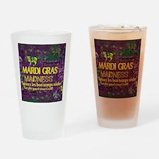 Mardi Gras Madness Bourbon French Q Drinking Glass