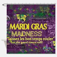 Mardi Gras Madness Bourbon French Q Shower Curtain