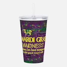 Mardi Gras Madness Bou Acrylic Double-wall Tumbler