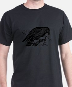 Funny Black crow on T-Shirt