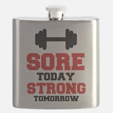 Sore Today Strong Tomorrow Flask