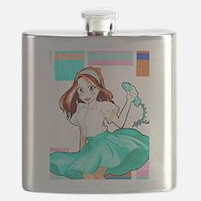 50's Girl Flask
