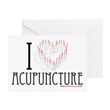 I HEART ACUPUNCTURE Greeting Card
