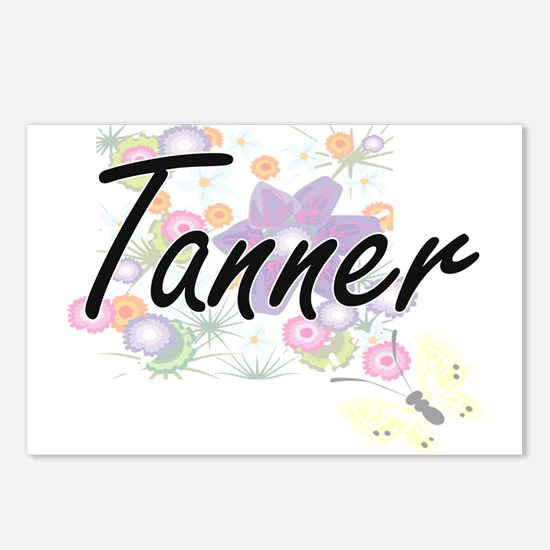 Tanner surname artistic d Postcards (Package of 8)