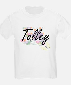 Talley surname artistic design with Flower T-Shirt