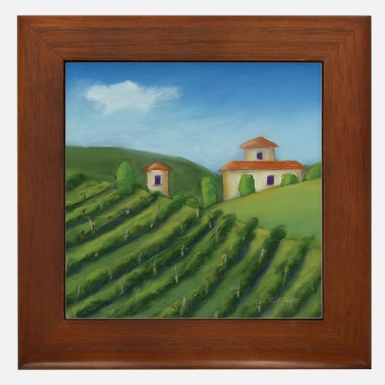 Tuscan Villa Framed Tile