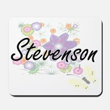 Stevenson surname artistic design with F Mousepad