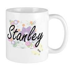 Stanley surname artistic design with Flowers Mugs