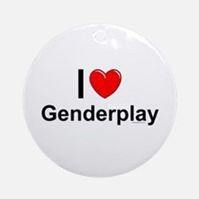 Genderplay Round Ornament