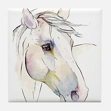 White Horse Eyes Tile Coaster