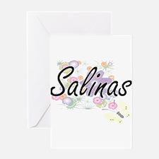 Salinas surname artistic design wit Greeting Cards