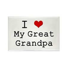 I Heart My Great Grandpa Rectangle Magnet