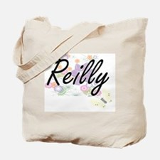 Reilly surname artistic design with Flowe Tote Bag