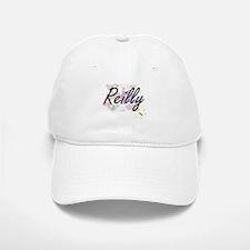 Reilly surname artistic design with Flowers Baseball Baseball Cap