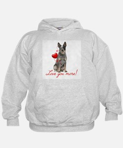 Love You More! Cattle Dog Hoodie