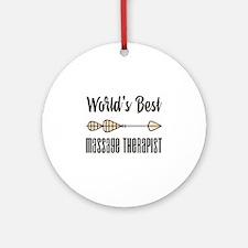 World's Best Massage Therapist Round Ornament