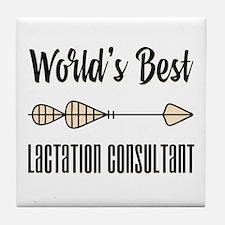 World's Best Lactation Consultant Tile Coaster