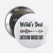 "World's Best Lactation Con 2.25"" Button (100 pack)"