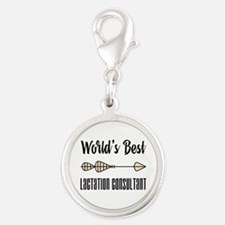 World's Best Lactation Consult Silver Round Charm