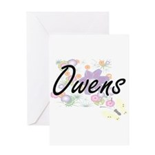 Owens surname artistic design with Greeting Cards